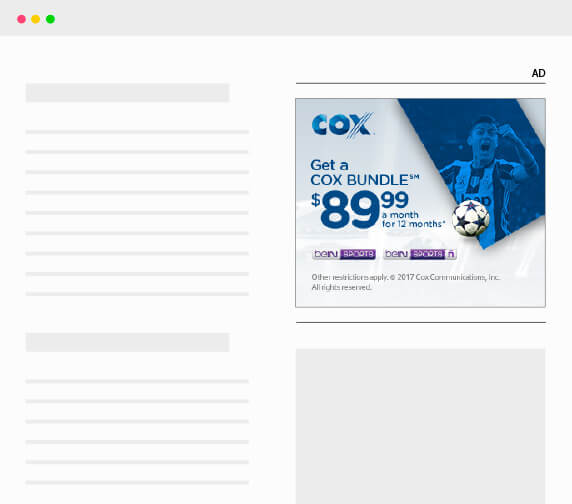 cox fútbol display banner pm3 agency