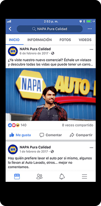 napa case study mobile social ads
