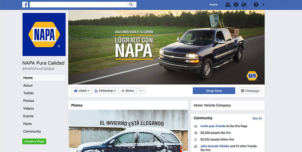 napa social media content case study by pm3 agency