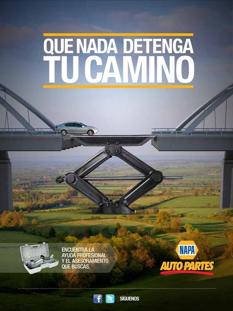 car print ads napa auto parts hispanic jack stand making as a bridge for a car napa auto partes