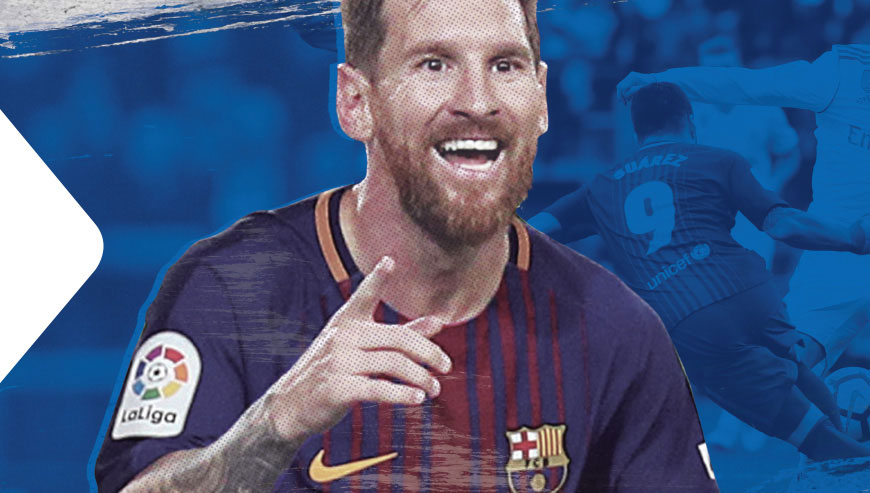 cox communications advertising soccer print-ad leonel messi celebrating his goal