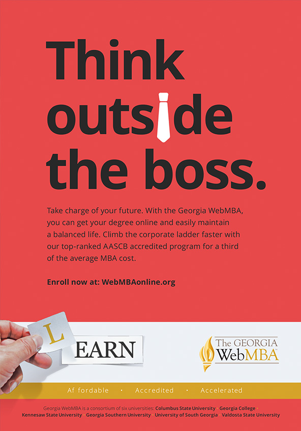 Think outside the boss Georgia WebMBA education print ad