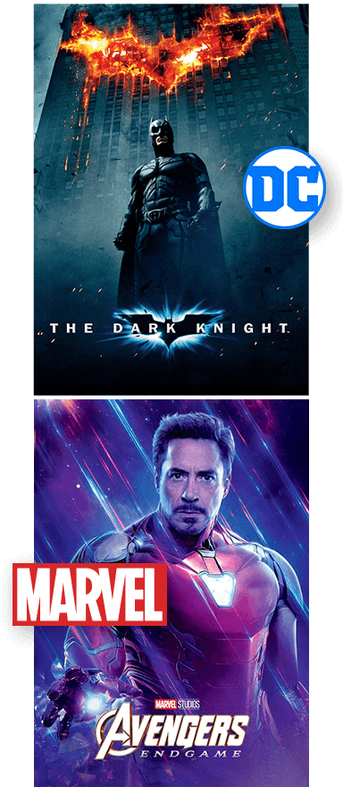 batman the dark night and avengers end game posters history of comic books pm3 agency blog