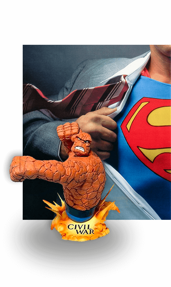 dc comics fantastic four the thing and superman the movie history of comic books pm3 agency blog