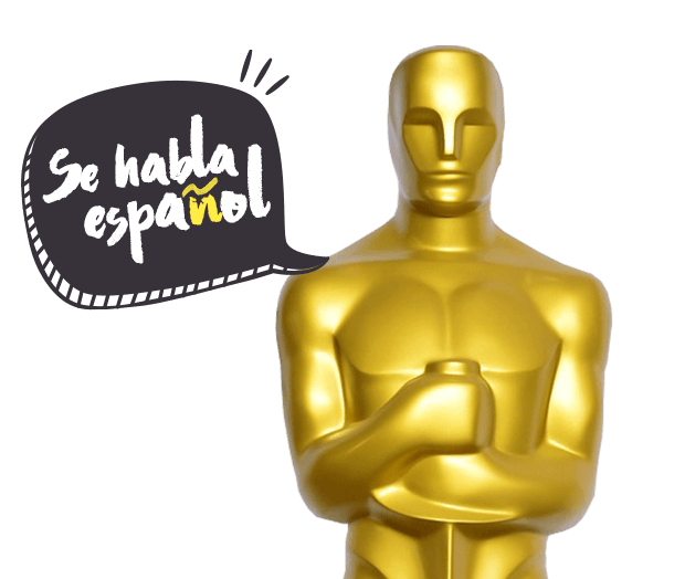 oscar stattuete saying se habla español verizon hispanic oscars advertising