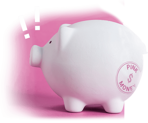 piggy bank money box pink money LGBT