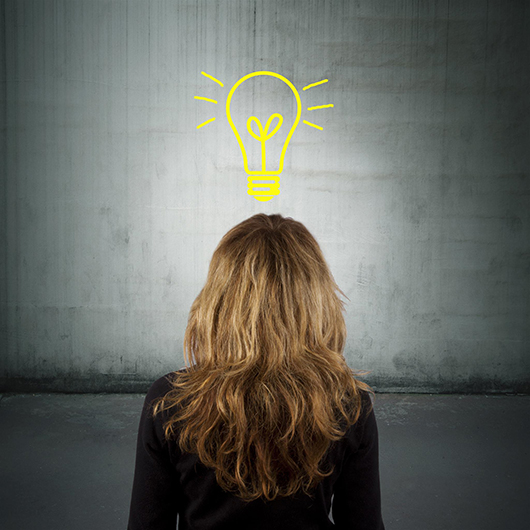 what is creativity women from behind having a good idea